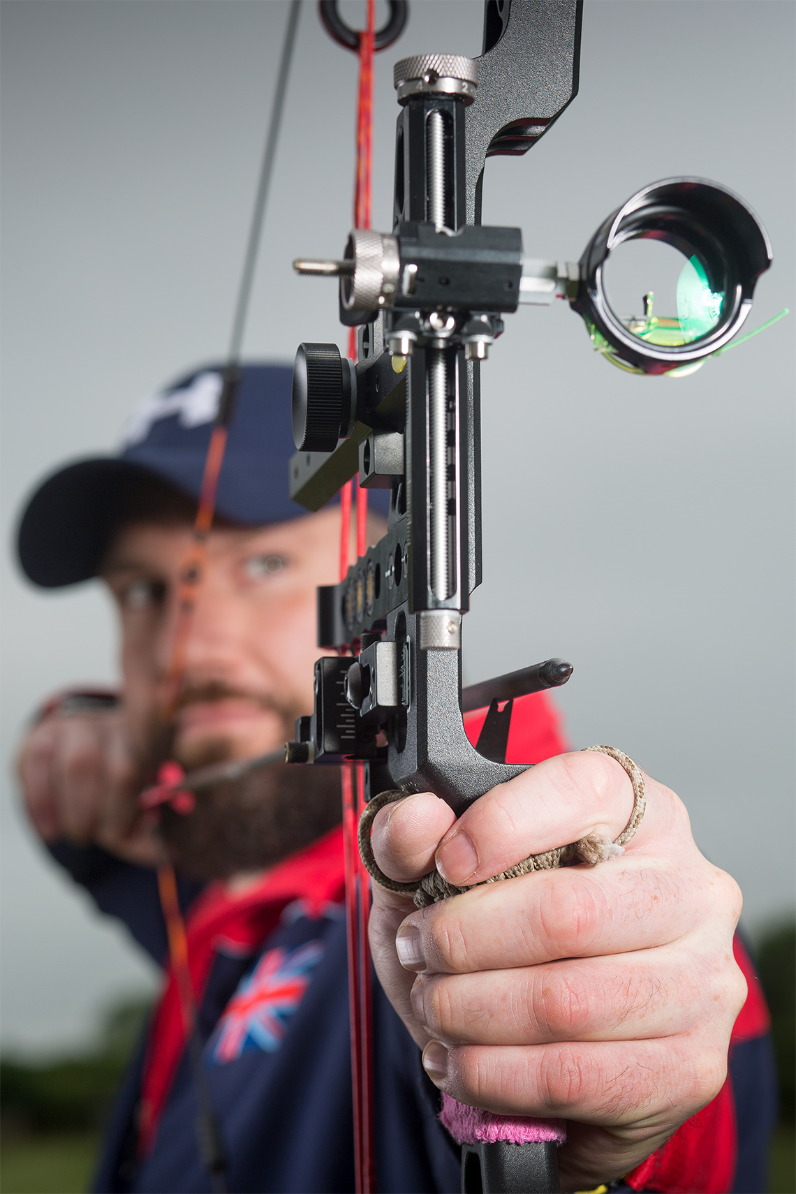 Sports feature photography of UK Invictus and Warrior Games Archer Daniel Grobler.